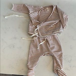 Quincy Mae Newborn Two Piece Kimono Pajamas
